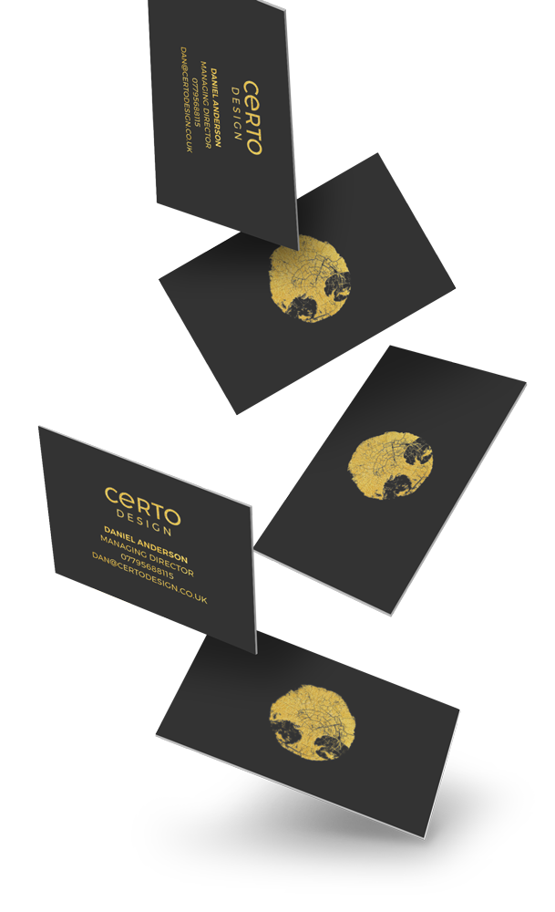Certo Design Business Cards Design, Lancashire