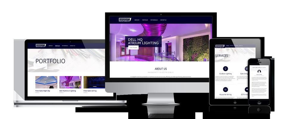 Hadgraft Electrical Website Design by Certo Design Clitheroe
