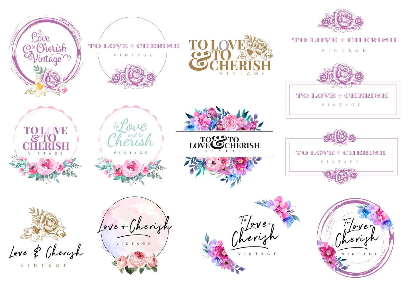 To Love & To Cherish Logo Design