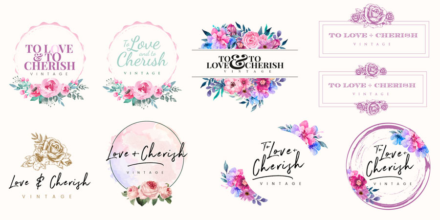 To Love & To Cherish Logo Design Progress