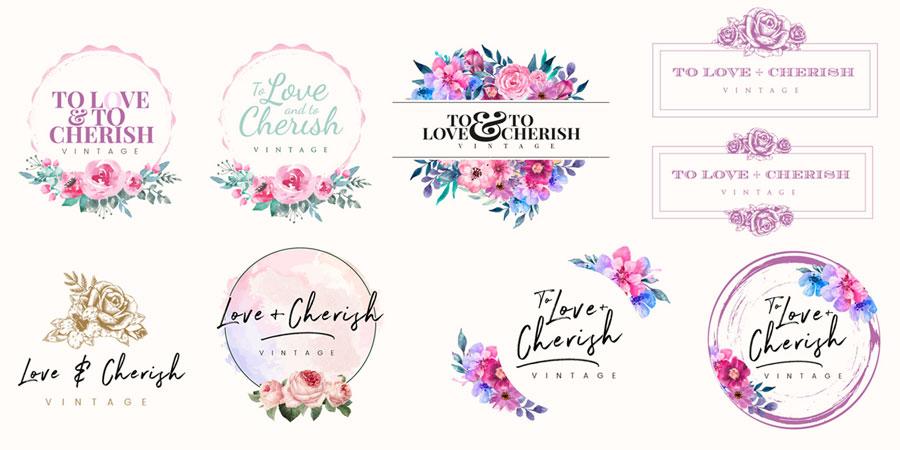 To Love & To Cherish Logo Design Progress