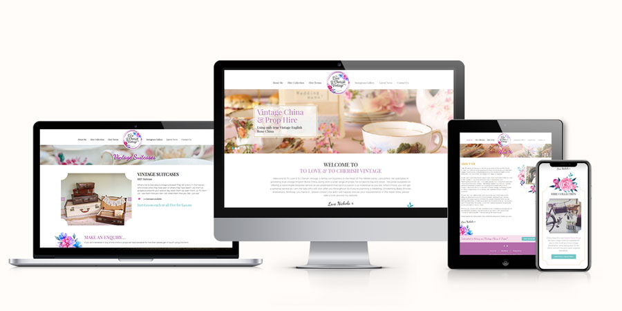 To Love & To Cherish Responsive Website Design