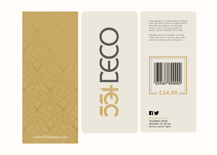 554 Deco Blackburn Lancashire Label Design