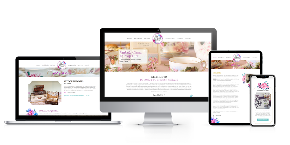 To Love and To Cherish Website Design Clitheroe