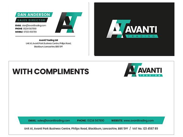 Avanti Trading Compliment Slip Design by Certo Design
