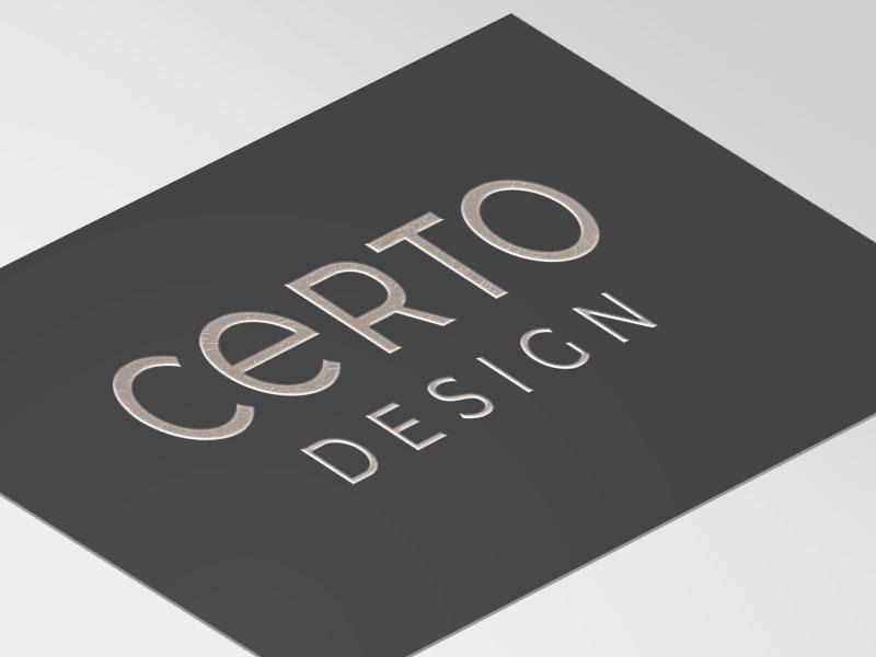 Silver Foil Business Card Design