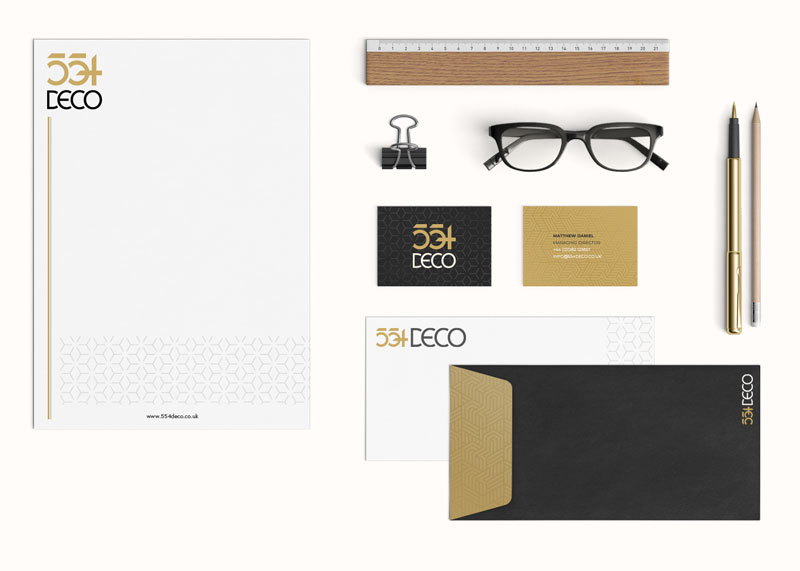 554 Deco Stationery Design
