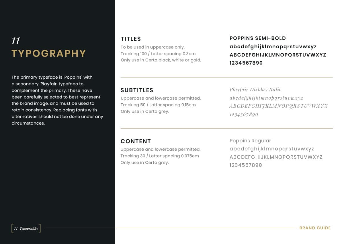 Brand Guidelines - Typography