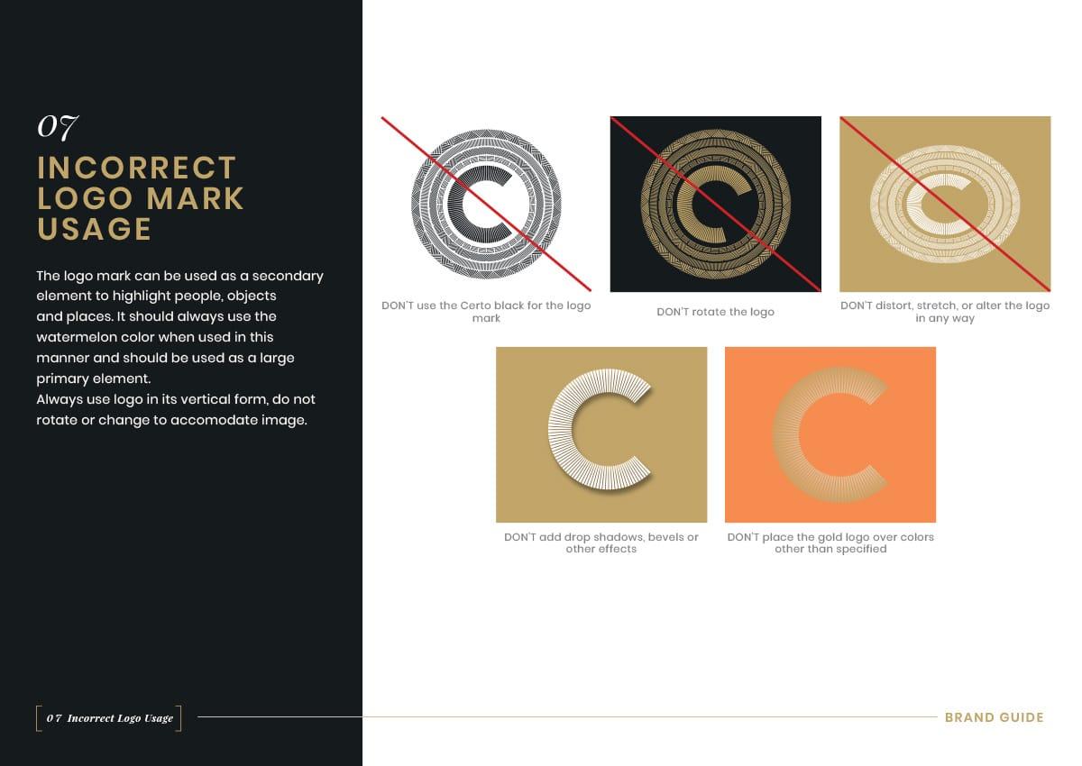 Brand Guidelines - Incorrect Logo Mark Usage
