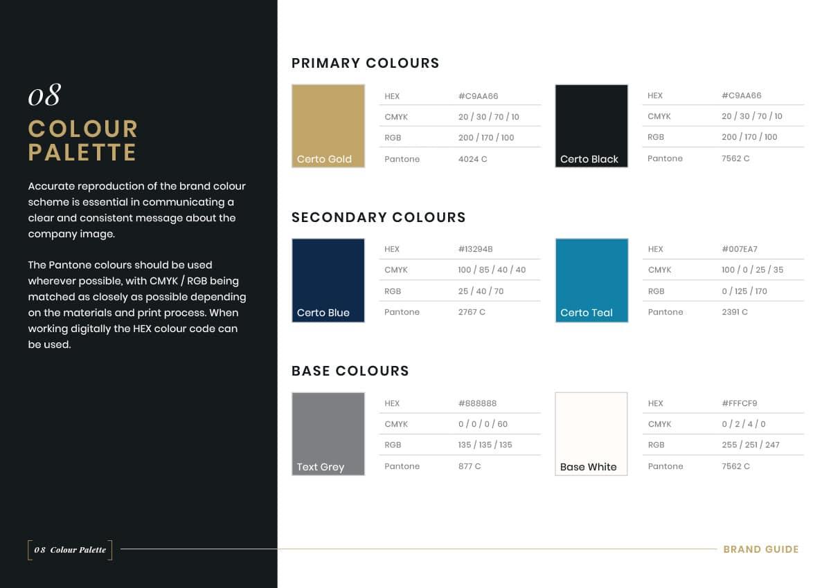 Brand Guidelines - Colour Palette