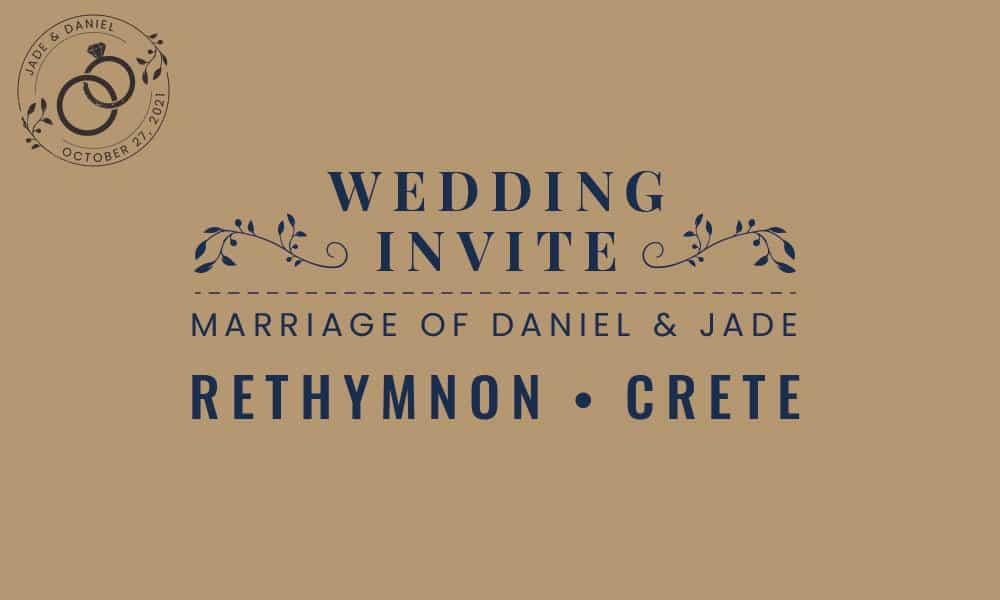 Anderson Wedding Invite Design