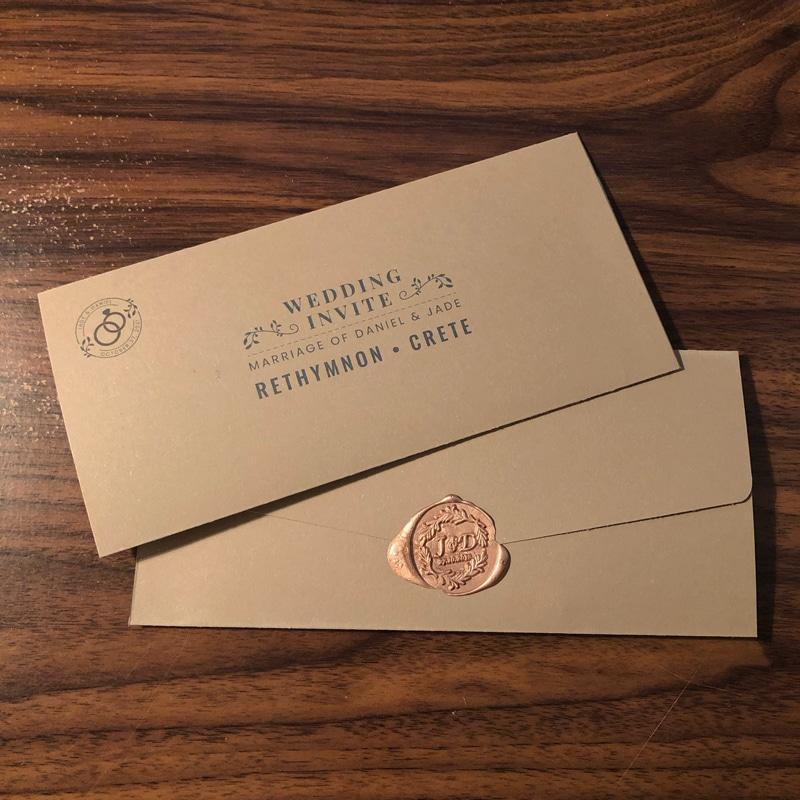 Wedding Invite Sleeve Design